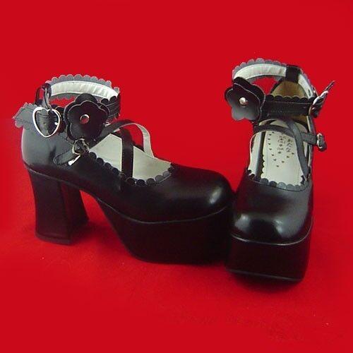 schwarz lolita gothic stiefel Schuhes Schuhe elegant Stöckel Rozen Maiden cosplay