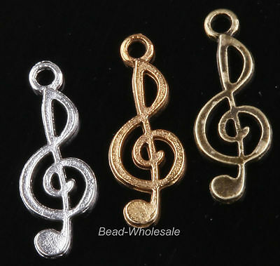 10pcs  Music Notation Shaped Tibetan Silver Connectors Charms Jewelry Findings
