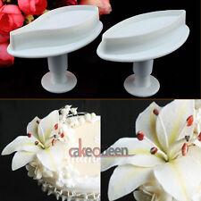 2PCS Calla Lily Flower Fondant Cake Cutter Mould Gum Paste Sugarcraft Decorating
