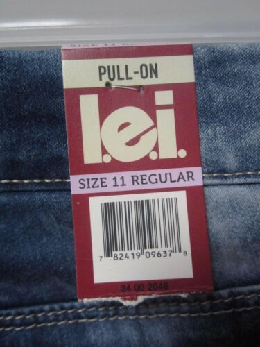 "L.e.i Juniors 21/"" Luxe Pull-On Super Soft Crop Capri Med Acid Wash Pants Size 11"