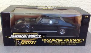 American Muscle 1970 Buick GS Stage 1 black 32756 10 Fastest series car 1:18