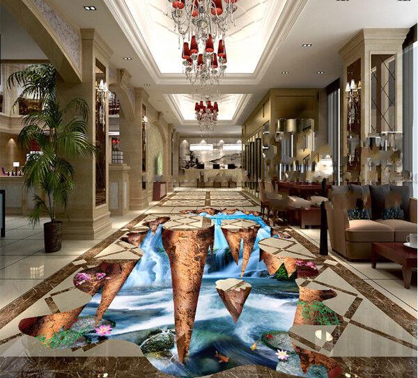 3D Lotus Scape 83 Floor WallPaper Murals Wall Print Decal AJ WALLPAPER US Summer