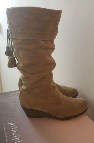 75 Bnib Size 6 Rrp Suede 00 Uk Ladies Biege £ Boot Principles xwvqAOxZ