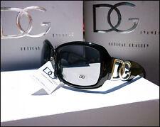 NUOVO Da Donna Designer oversize DG Eyewear Tonalità Nero Moda Occhiali da sole