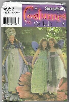 Girls Fairy Costume 7-14 Sewing Pattern Simplicity 4952  OOP