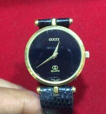 aa4ff149e1b item 3 Vintage Gucci Ladies Quartz Watch Genuine Black Leather Band Swiss  Made -Vintage Gucci Ladies Quartz Watch Genuine Black Leather Band Swiss  Made