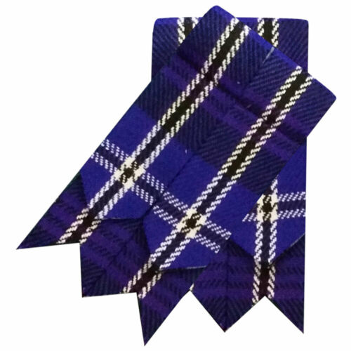 ST Scottish Kilt Hose Sock Flashes various Tartans//Highland Kilt Flashes pointed