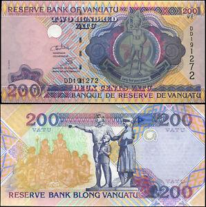 Vanuatu 200 Vatu. NEUF ND (2010) Billet de banque Cat# P.8c