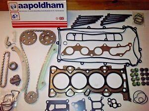 Ford-Mondeo-MK3-2-0-16v-Neu-Steuerkette-Set-Kopfdichtung-amp-Schrauben-2000-07