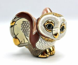 De Rosa Rinconada 3 Quot Barn Owl Gold Glazed Pottery Figurine