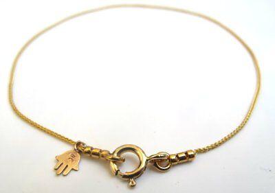 Hamsa gold blue hand fatima opal luck bracelet 14 k kabbalah evil eye amulet