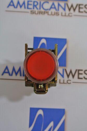 Telemecanique Red Push Pilot Light with ZBE-101 and ZBV-G4   120V