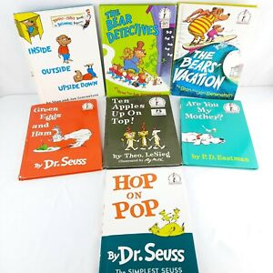 Vtg 60s 70s Dr Suess - 7 Book Lot - Beginner Books Good Condition