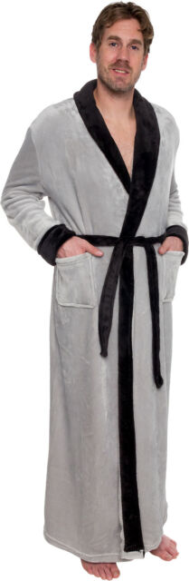 c6e0efeaa9 Ross Michaels Mens Long Robe - Full Length Big   Tall Bathrobe Grey ...
