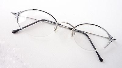 AnpassungsfäHig Fassung Frauen Brille Oval Leicht Nur Oberrand Silber Schwarz Preiswert Size M