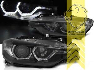 LED-Angel-Eyes-Scheinwerfer-fuer-BMW-F30-Limousine-F31-Touring-schwarz