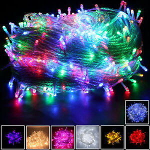 8-Multi-Action-300-400-LED-Xmas-Christmas-Tree-Fairy-String-Lights-Party-Wedding