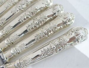 12-English-Queens-Pattern-Dinner-Knives-9-75-034-English-Kings-Sterling-Silver