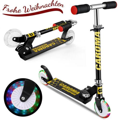 Kinderroller Tretroller Scooter Kickboard 2-Räder Leuchträder Höheverstellbar DE