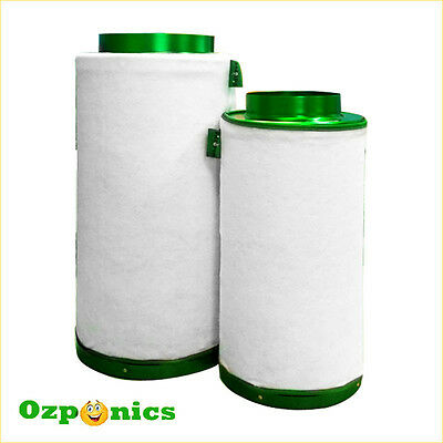 """FILTAROO  8/"""" AIR ACTIVATED CARBON FILTER FOR HYDROPONICS GROW TENT ROOM 200MM"""