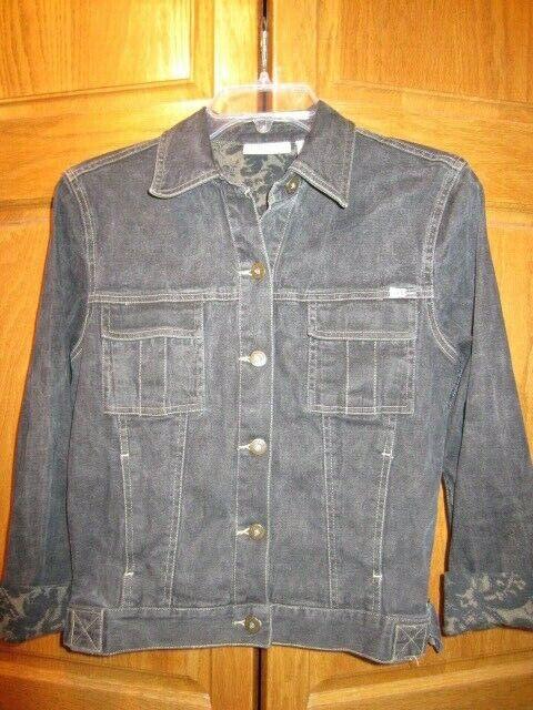 The Blue Jean Baby Jacket 1980s Women/'s Vintage Groovy Western Denim Leather Arrow Embroidery Blazer by Liz Claiborne Lizwear Jeans