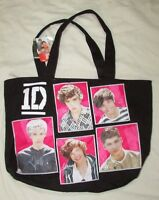 One Direction 1d Girls Tote Bag Handbag Black Pink Photos