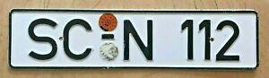 GERMANY-GERMAN-AUTO-PASSENGER-LICENSE-PLATE-034-SC-N-112-034