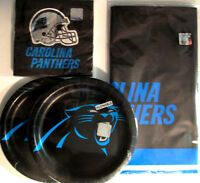 Carolina Panthers Nfl Football Ceg Party Supplies W/plates,napkins & Table Cover