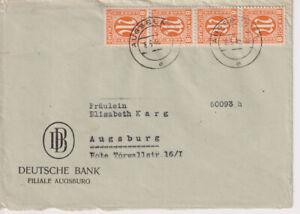 Bizone-AM-Post-Mi-5z-4er-Ortsbf-Augsburg-8-3-46-Mi-100-00