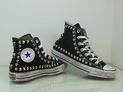 Converse All Star Hi studs and skulls shoes womens vintage black ...