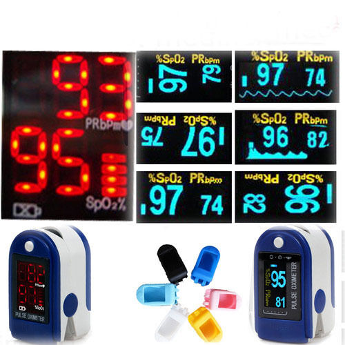 SOFT COVER,FDA CE CMS50D (6 kinds of color)Fingertip Pulse Oximeter Spo2 MONITOR