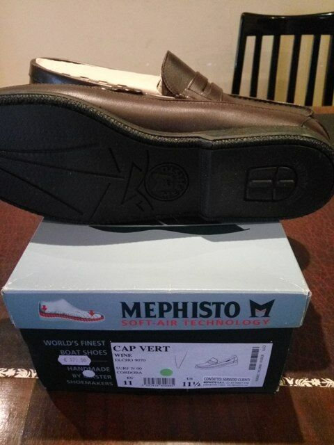 MEPHISTO CAP VERT UOMO TG.45,5 MOCASSINI NUOVI