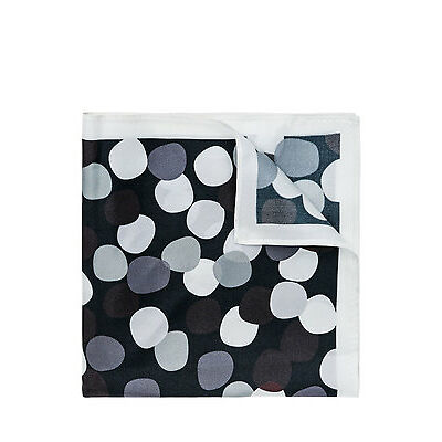 NEW Jeff Banks Abstract Spot Pocket Squares Black