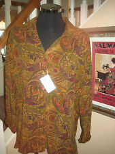 """Tianello  Garment Dyed Rayon Tencel  Suzy Blouse 1X NWT  Bust 46.5""""+ RE $140+"""