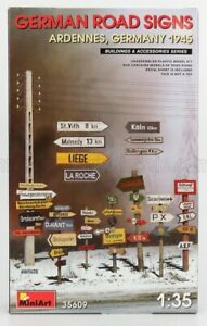 MINIART 1/35 ACCESSORIES   GERMAN ROAD SIGNS MILITARY ARDENNES GERMANY 1945   /