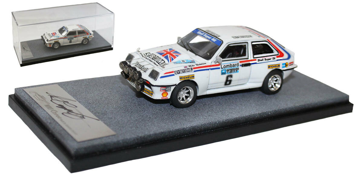 Arena Vauxhall Chevette HSR RHD 'DTV Systime' RAC 1983 - Tony Pond 1 43 Scale