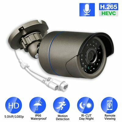 IP H.264//H.265 1080P HD ONVIF Night Vision P2P 48V POE waterproof Camera Option