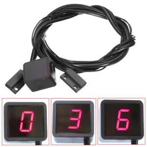 Indicateur-Vitesse-Rapport-Engage-Capteur-Levier-LED-Rouge-Numerique-Affichage