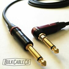 MOGAMI 2524 10 FT GUITAR CABLE - NEUTRIK RIGHT ANGLE SILENT PLUG TO STRAIGHT END