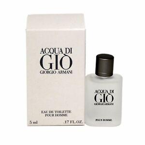Details About Giorgio Armani Acqua Di Gio Pour Homme Eau De Toilette Splash 5 Ml Miniature