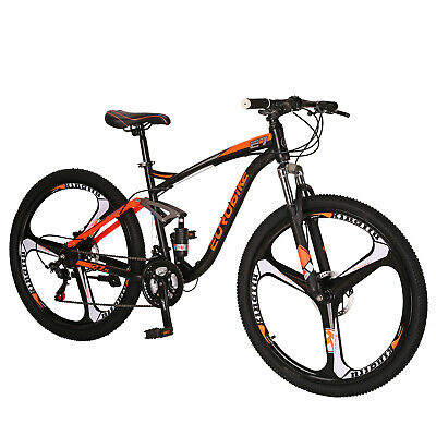 "27.5/"" Men/'s Mountain Bike 21 Speed MTB Full Bicycle front Suspension Disc Brakes"