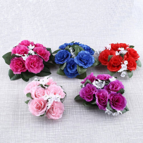 Candle Rings Silk Wedding Handmade Flower Rose Tabletop Centerpieces Unity Gift