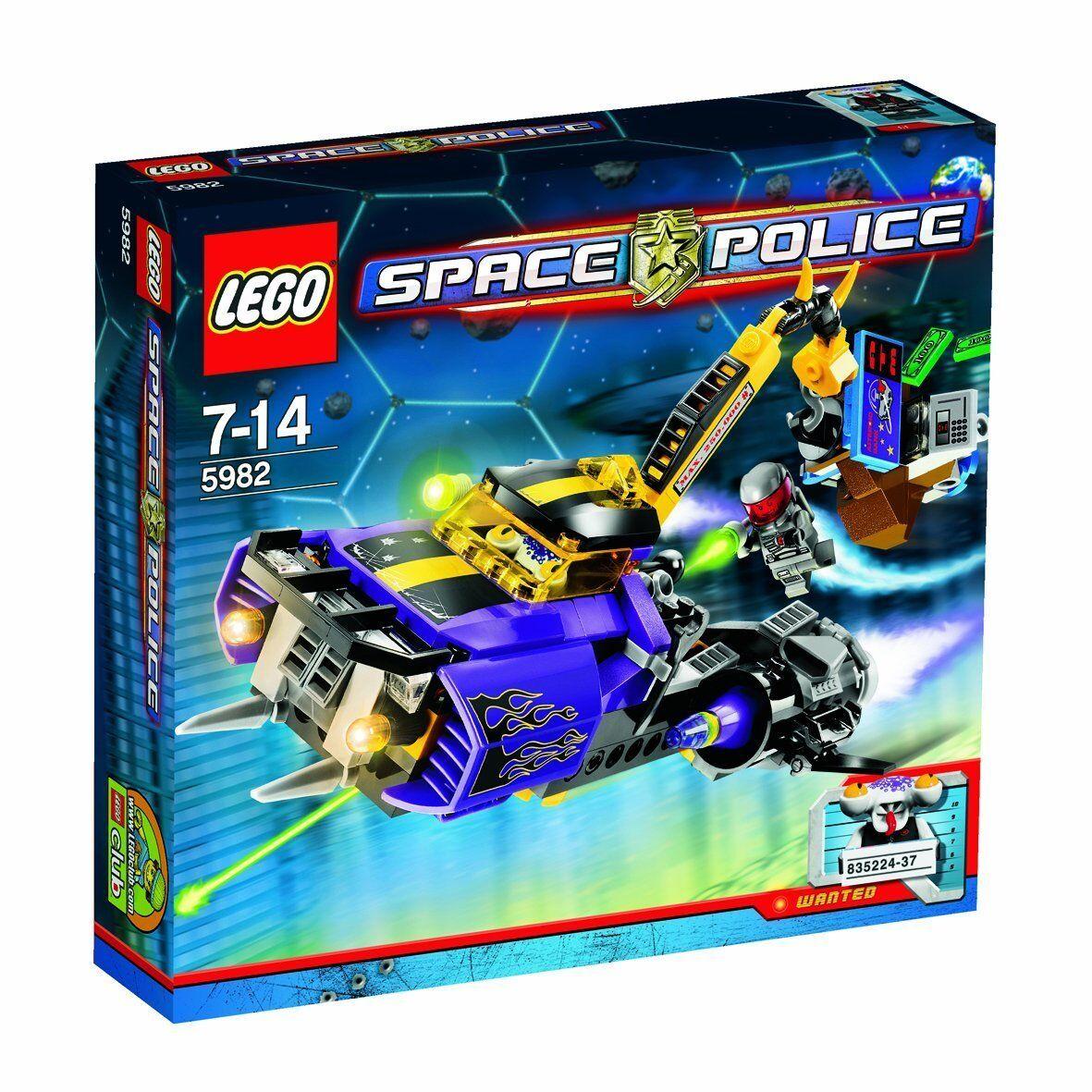 LEGO SPACE POLICE 5982 rapina ATM TRANSPORTER Smash N Grab alieno