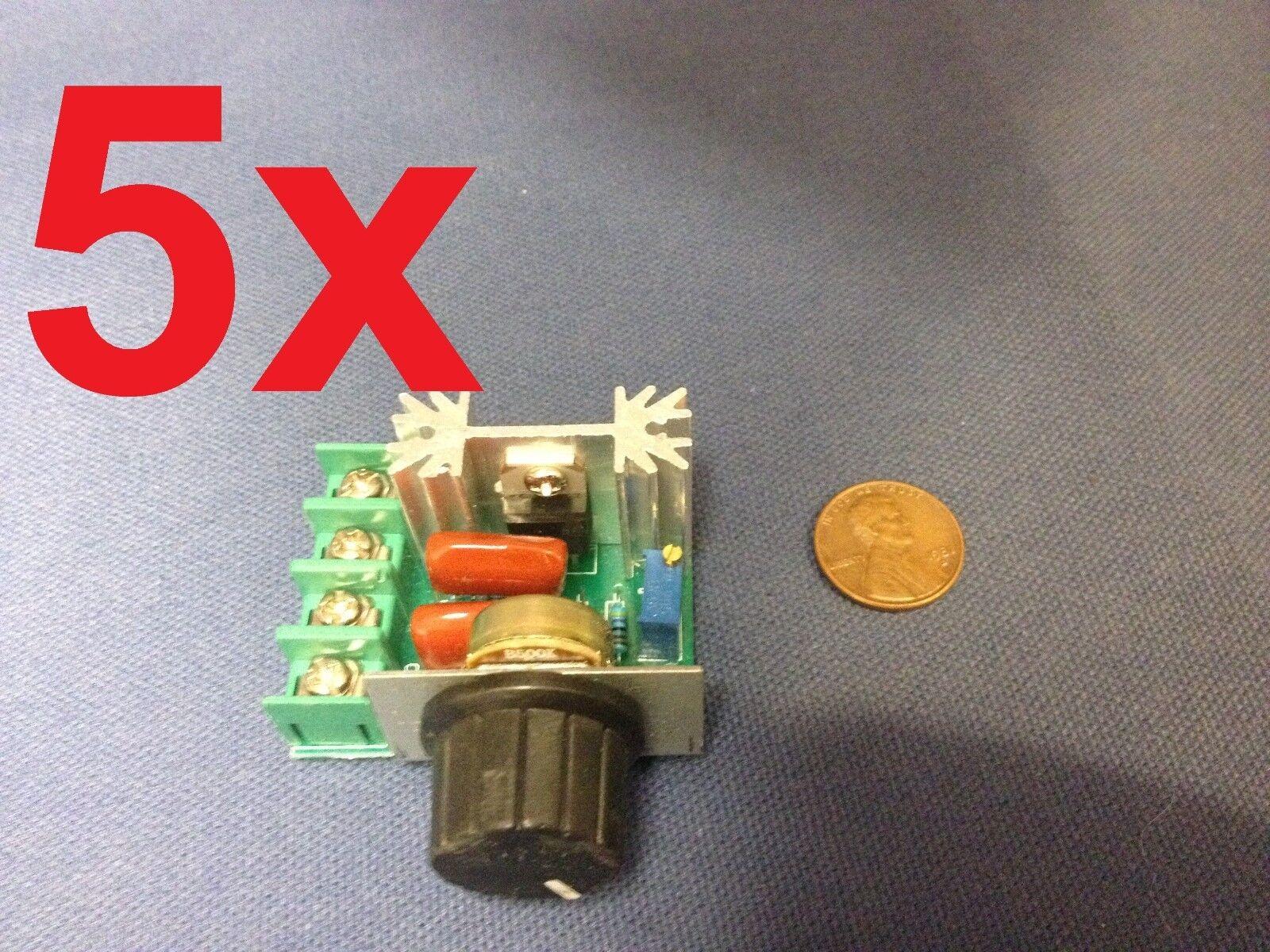 5x -- 220V 2000W Speed Controller SCR Voltage Regulator Dimmer Thermostat HMY c9