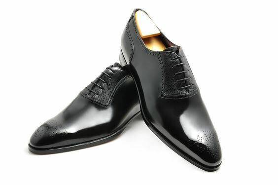 Mens Casual Leather Dress bottes Handmade Genuine Oxfords Leather Formal chaussures