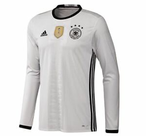 5cebe1d5af ADIDAS 2016 Germany Home White Long Sleeve Soccer Jersey NEW Mens Sz ...