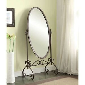 Oval Cheval Antique Style Floor Mirrors Large Full Length Master Bedroom Mirror Ebay