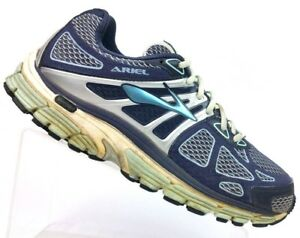 99ed3e53beba9 Brooks Ariel 14 Navy Silver Athletic Walking Running Shoes Women s ...