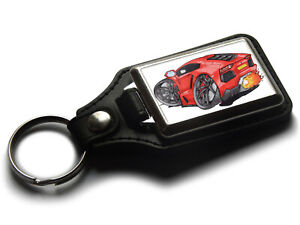 Koolart-Cartoon-Car-Lamborghini-Aventador-Leather-and-Chrome-Keyring
