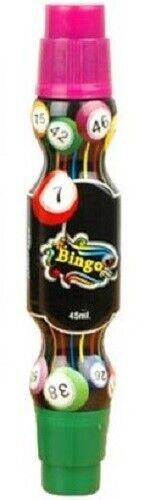 Double Power Dot Bingo Dabber Green & Purple for Bingo Tickets